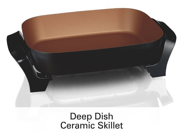 deep dish electric skillet