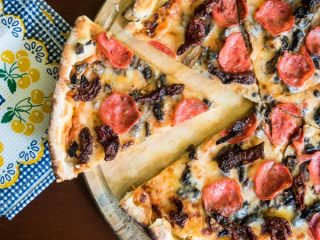 electric skillet pizza 1