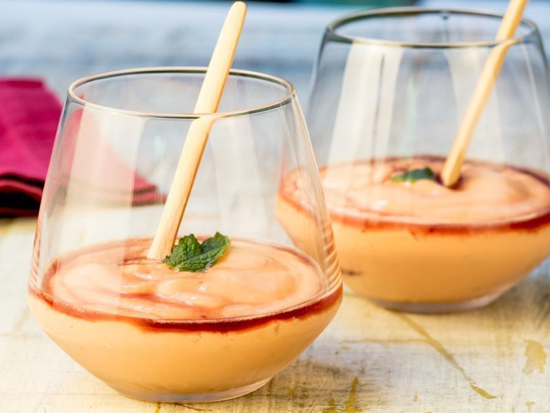 Papaya Cream with Cassis Liqueur 1