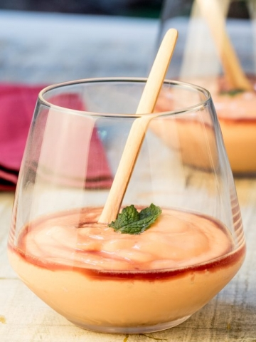 Papaya Cream with Cassis Liqueur 2