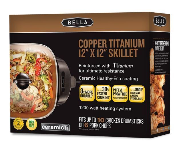 bella 12 x 12 electric skillet packaging