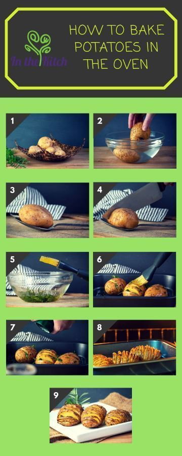 How to Bake Potatoes in the Oven Collage