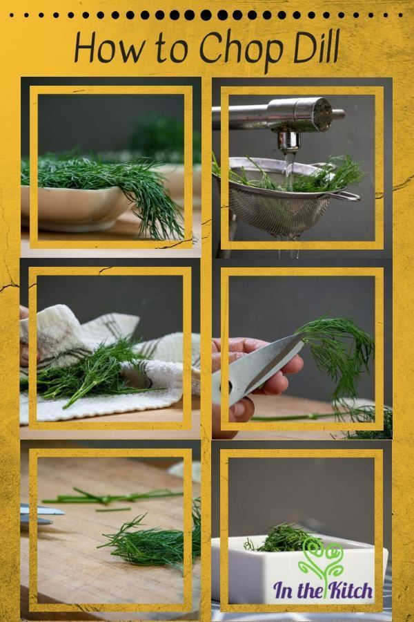 How to Chop Dill Collage