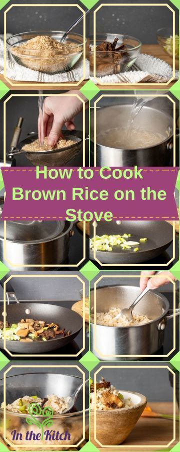 How to Cook Brown Rice on the Stove Collage