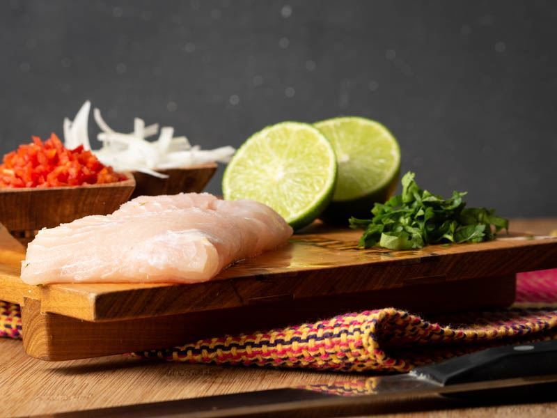 How to Make Ceviche - Step 1 image, prepped ingredients. inthekitch.net