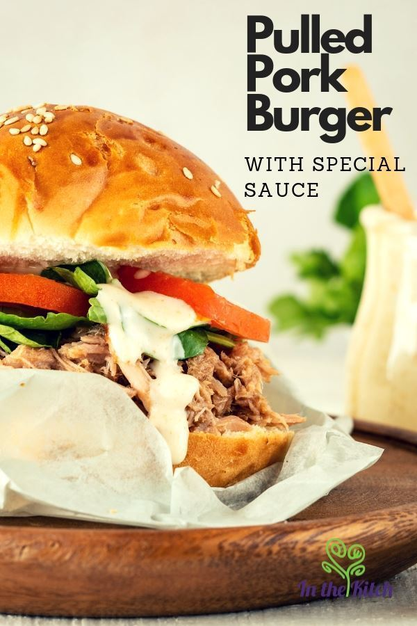Pulled Pork Burger with Special Sauce. Here's an amazing recipe for pulled pork with a special sauce that packs a little kick creating a unique, Southern BBQ burger.