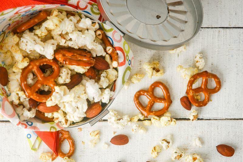 Tri-Flavor Popcorn Snack Mix