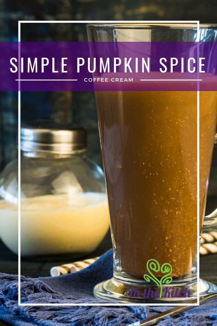 Simple Pumpkin Spice Coffee Cream