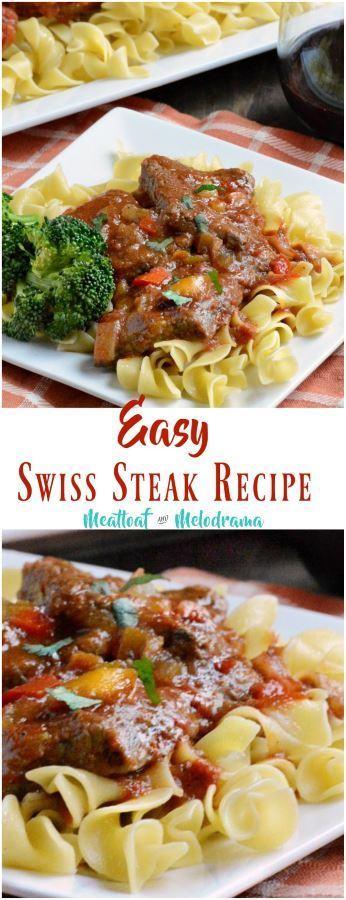 swiss steak in skillet