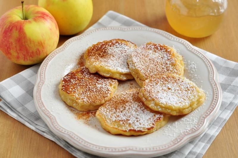 Apple Pancakes on a plate.
