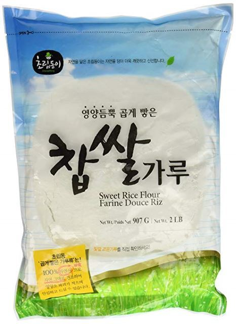 A bag of glutinous rice flour.