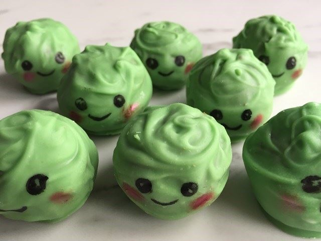 Brussel sprouts cake pops.