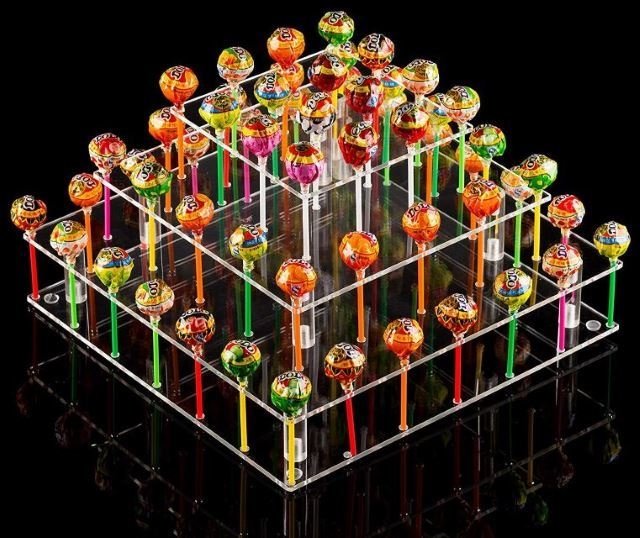 Clear acrylic cake pop stand.