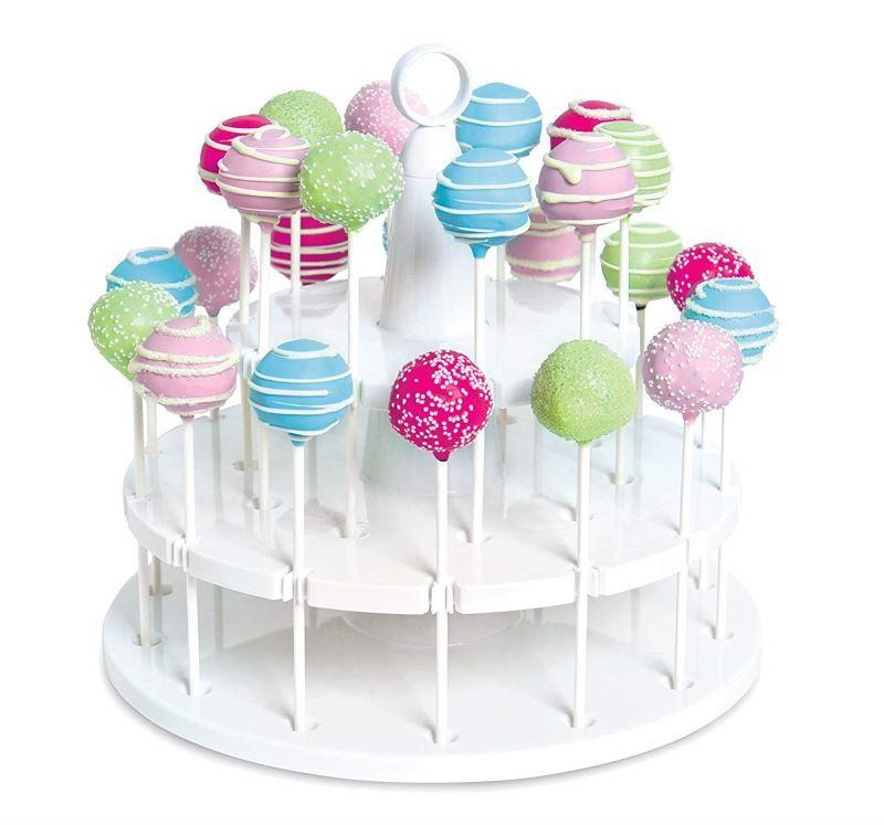 White 2-tier cake pop stand.