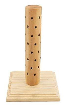 Wooden cake pop holder.