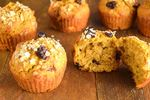 Pumpkin Muffins with cranberries.