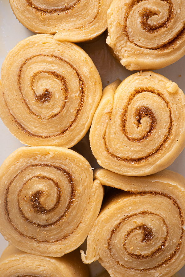 Raw cinnamon buns.