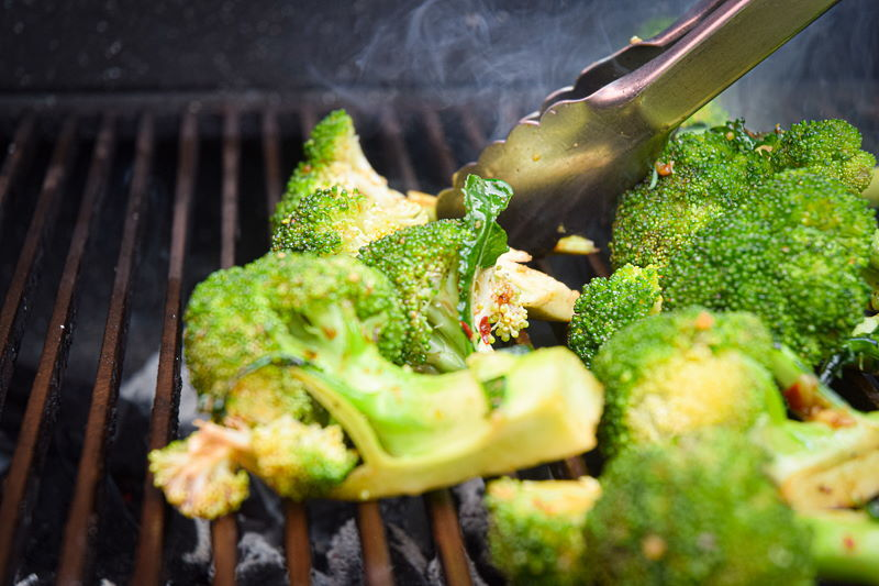 Broccoli on the bbq.