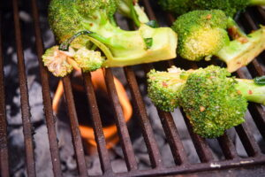 Broccoli on the bbq.