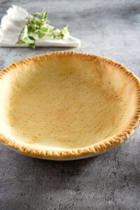 Baked pie shell.