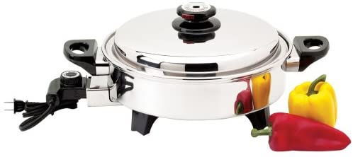 Precise Heat Stainless Steel Oil Core Electric Skillet